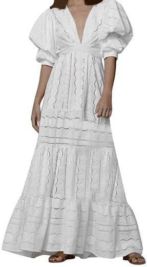 Amazon.com: Ellymi Boho Women Holiday Lace Hollow Out ...