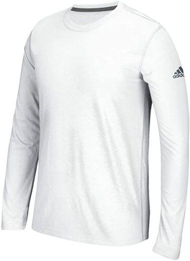 adidas Men's Long Sleeve Ultimate T-Shirt (White, Small): Amazon ...