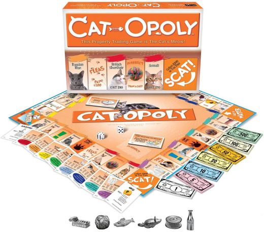 Late for the Sky CAT-opoly Board Game ... - Amazon.com