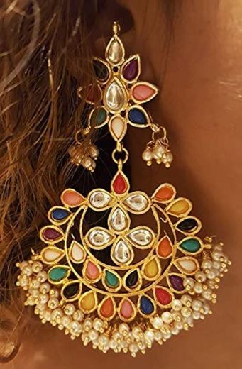 Mehrunnisa Traditional Multi-Colour Stones, Kundan ... - Amazon.com