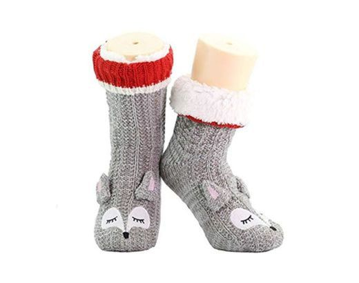 CityComfort Slipper Socks 3D Novedad Cute Animal Knitted Extra Warm Slippers Súper