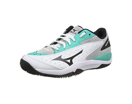Mizuno Wave Flash CC, Zapatillas de Tenis Unisex Adulto, Blanco