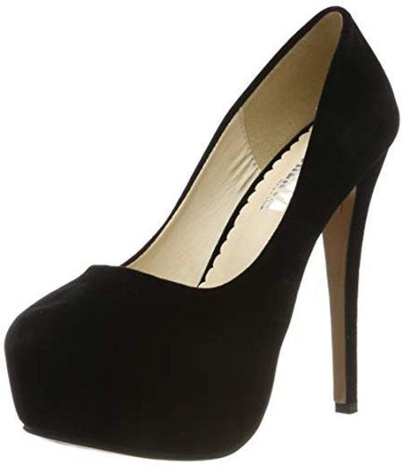 OCHENTA - Zapatos de tacón alto de punta redonda con plataforma oculta