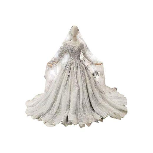 Elegant Dress con Cuello en V Nupcial de la Boda de Gasa