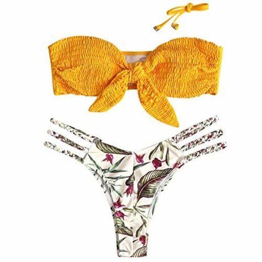 riou Bikini Conjuntos de Bikinis para Mujer Push Up Mujeres Traje de