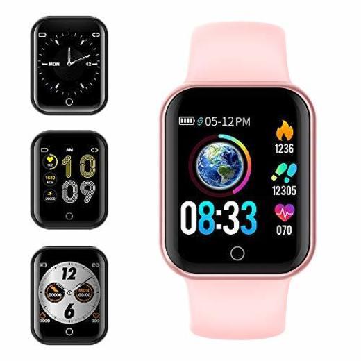 Smartwatch, KUNGIX Reloj Inteligente Impermeable IP68 Pulsera de Actividad Inteligente con Monitor