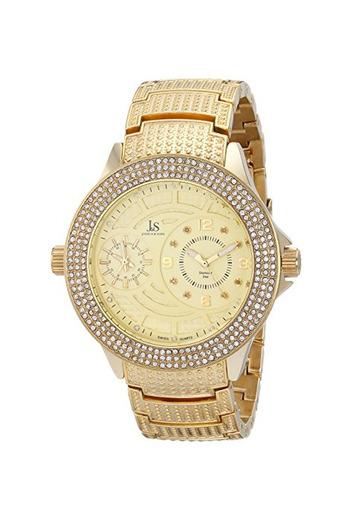 Joshua & Sons Reloj de Hombre de Reloj con Cristales y Diamantes