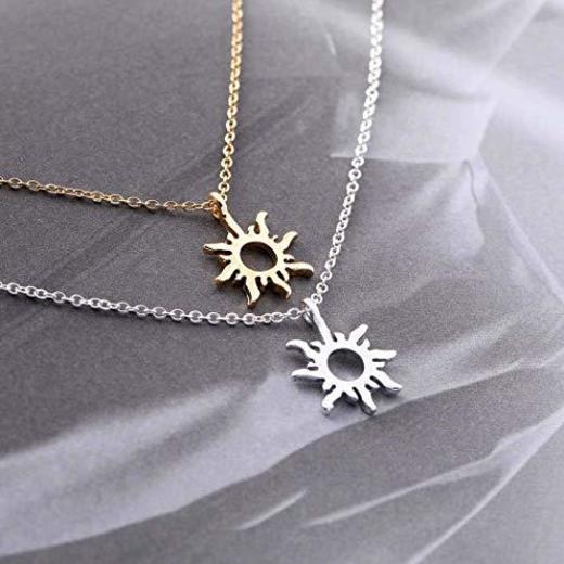 Simsly Fashion - Collar con colgante de sol para mujeres o niñas