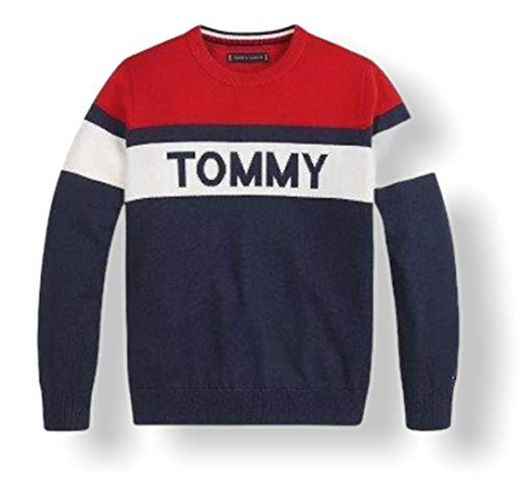 Tommy Hilfiger Colorblock Sweater Suéter, Twilight Navy