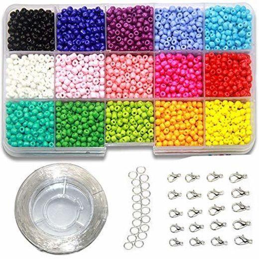 Ewparts 3mm Mini cuentas de cristal para los niños DIY Bracelet Arte