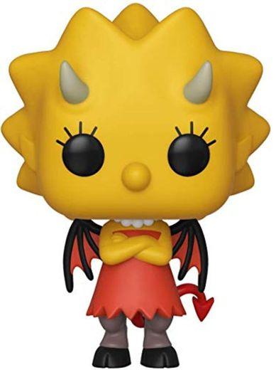 Funko- Pop Figura De Vinil: Animation: Simpsons-Lisa as Devil Coleccionable, Multicolor