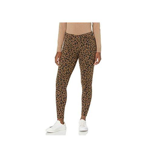 Amazon Essentials Jegging de Punto elástico Ajustado estándar. Leggings-Pants, Camel Animal Print,