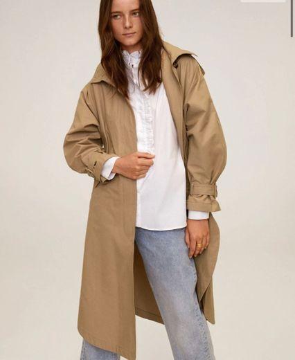 Trench algodón oversize - Mujer