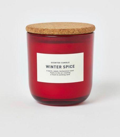 Vela aromática en frasco - Rojo/Winter Spice - HOME | H&M ES