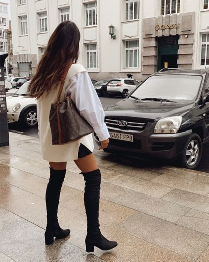CHARLOTTE - heeled over the knee boots in black – QUANTICLO