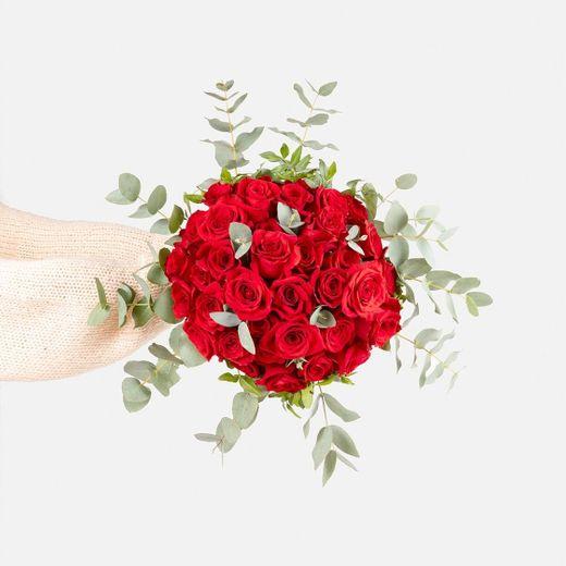 Ramo con rosas de color rosa para San Valentín - Lucky | Colvin