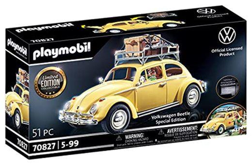 PLAYMOBIL 70827 Volkswagen Beetle como coche familiar amarillo