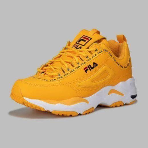 Zapatos de niña FILA Disruptor CB JR en Cuero Blanco 1010850