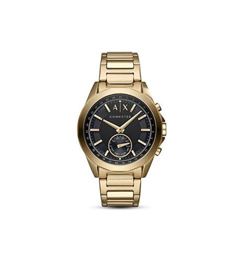 Armani Exchange Smartwatch Híbrido para Hombre de Connected con Correa en Acero Inoxidable AXT1008
