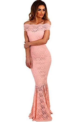 Ovender® Vestido Elegante Baile Dama Cerimonia Largo para Mujer Niñas Party Casual