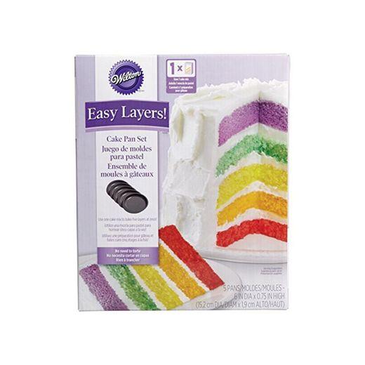 Wilton 2105-0112 - Set 5 moldes capas para Layer Cakes