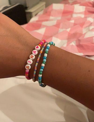 Bolitas colores pulseras