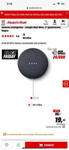 Altavoz inteligente - Google Nest Mini, 2ª generación, Chalk/Rock ...