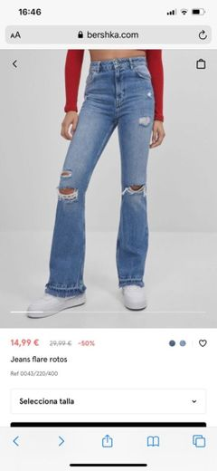 Jeans flare rotos