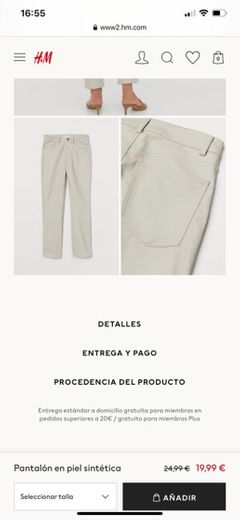 Pantalón en piel sintética - Beige grisáceo claro