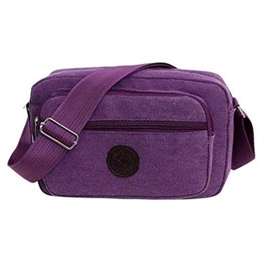 AMNVBD Casual Men Crossbody Bag Canvas Satchel Belt Shoulder Bag Male Sling