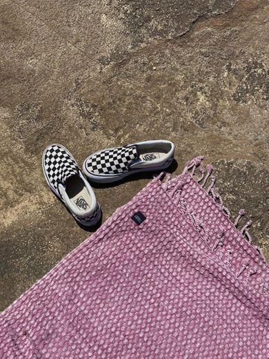 Vans Classic Slip-on Platform, Zapatillas sin Cordones para Mujer, Negro